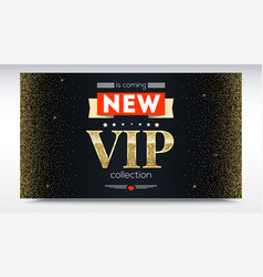 New collection is coming luxury vip text poster vector