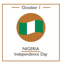 Nigeria independence day vector