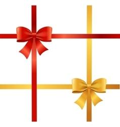 Present satin ribbon and bow vector