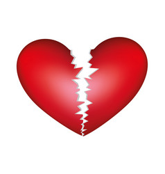 Realistic picture colorful broken heart vector