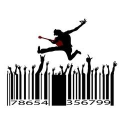 rock music bar code vector image