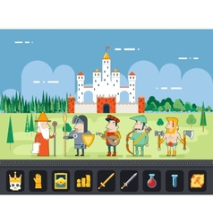 RPG Adventure Mobile Tablet PC Web Game Screen vector image