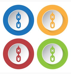 set of four icons - hanging chain with hole vector image vector image