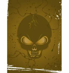 skull background vector image vector image