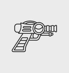 space laser ray gun gun toy icon vector image vector image