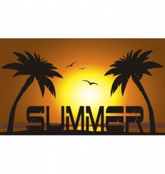 sunset typography vector image vector image