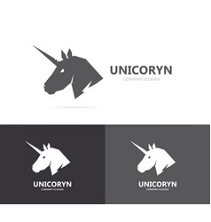 Unicorn or horse logo template vector