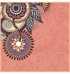 vintage floral ornamental template on flower vector image vector image