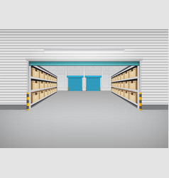 warehouse building background vector image vector image