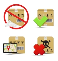 Cardboard boxes icons design vector