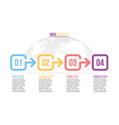 Business infographics presentation with 4 number vector