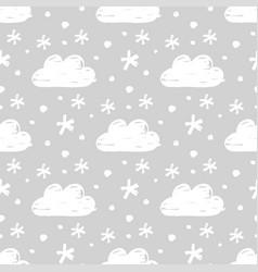 Snow seamless pattern vector