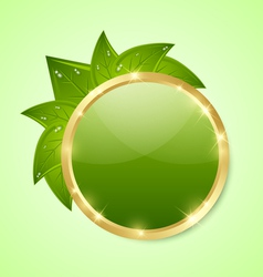 Golden and green plaque vector