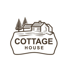 Cottage Logo Royalty Free Vector Image
