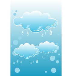 Rainy clouds vector