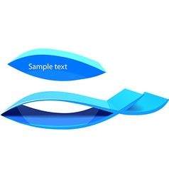 3d blue curve for design vector