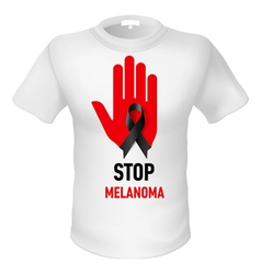 Tshirt stop melanoma vector image