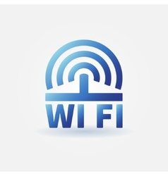 Wifi blue icon vector