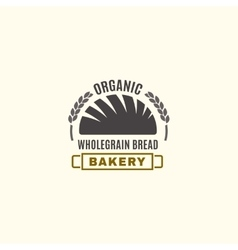 Editable bakery logo vector