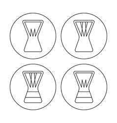 Djembe icons vector