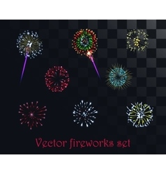 Festive patterned firework isolated on the vector