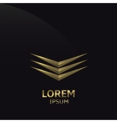 Abstract golden logo vector