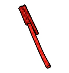 Comic cartoon pen vector