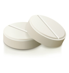 white medical pills vector image