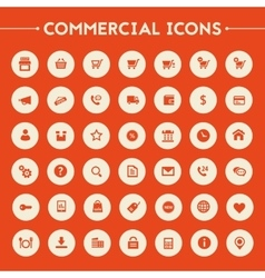 Big commercial icon set vector