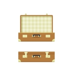 Suitcase open and closed vector