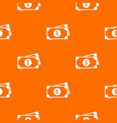 american dollars pattern seamless vector image vector image