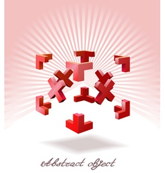 an abstract object is shown in the image vector image vector image