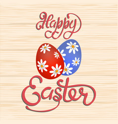 an inscription with the wish of happy easter vector image