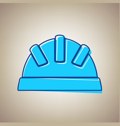 Baby sign sky blue icon with vector
