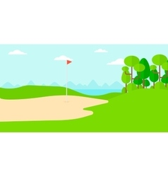 Background of golf field vector image vector image