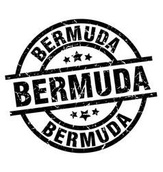 Bermuda black round grunge stamp vector