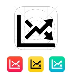 Charts icon vector image vector image