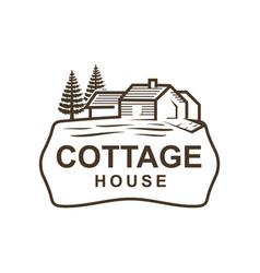Cottage logo vector