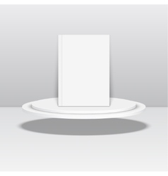 Empty blank oval hovering on the podium vector