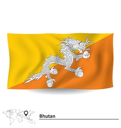 Flag of Bhutan vector image