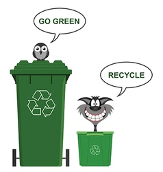 Go Green recycle vector image