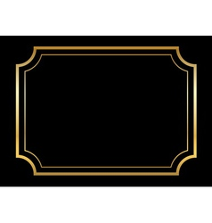 Gold frame Beautiful simple golden design black vector image vector image
