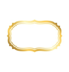 Gold frame simple white golden vector