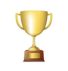 Golden trophy emblem vector