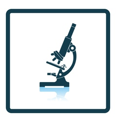 Icon of chemistry microscope vector image