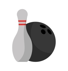 Isolated ball and pin of bowling sport design vector