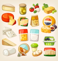 Kinds of cheese vector