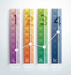 Modern geometric graph design infographic template vector