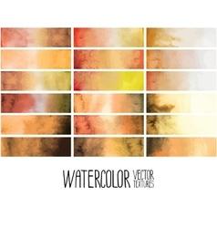 Ocher watercolor gradient rectangles vector image vector image