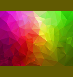 Pink green polygon background vector
